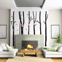 % Di grandi dimensioni 246*230 cm Foresta Uccello albero Camera Da Letto Sfondo Wall Stickers home decor per soggiorno poster Art wallpaper