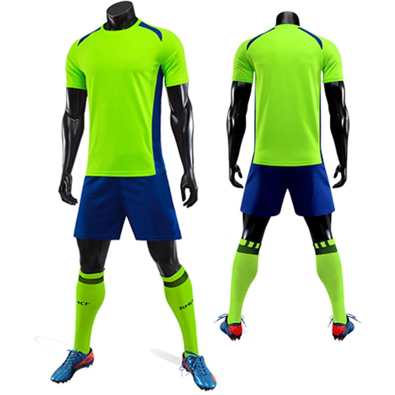 29090c4d25b 2019 New Kids Men Soccer Jersey Set Survetement Football Training Suit  Breathable Children Jogging Soccer Jerseys