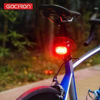 Gaciron W09-B vélo intelligent feu de freinage arrière USB Rechargeable avertissement de sécurité 60Lumens feu arrière accessoires de cyclisme