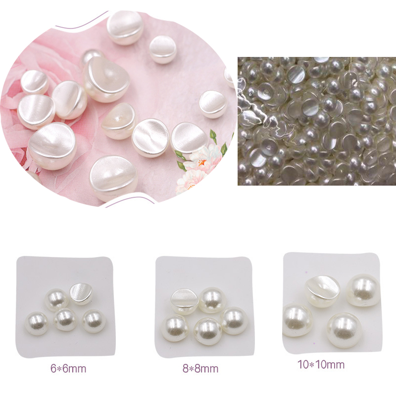 20pcs/bag 6mm 8mm 10mm 3D Half DIY Resin Groove Nail Art Pearl Beads 2019 New Design Nail Art Bubble Pearls For Nail Decoration