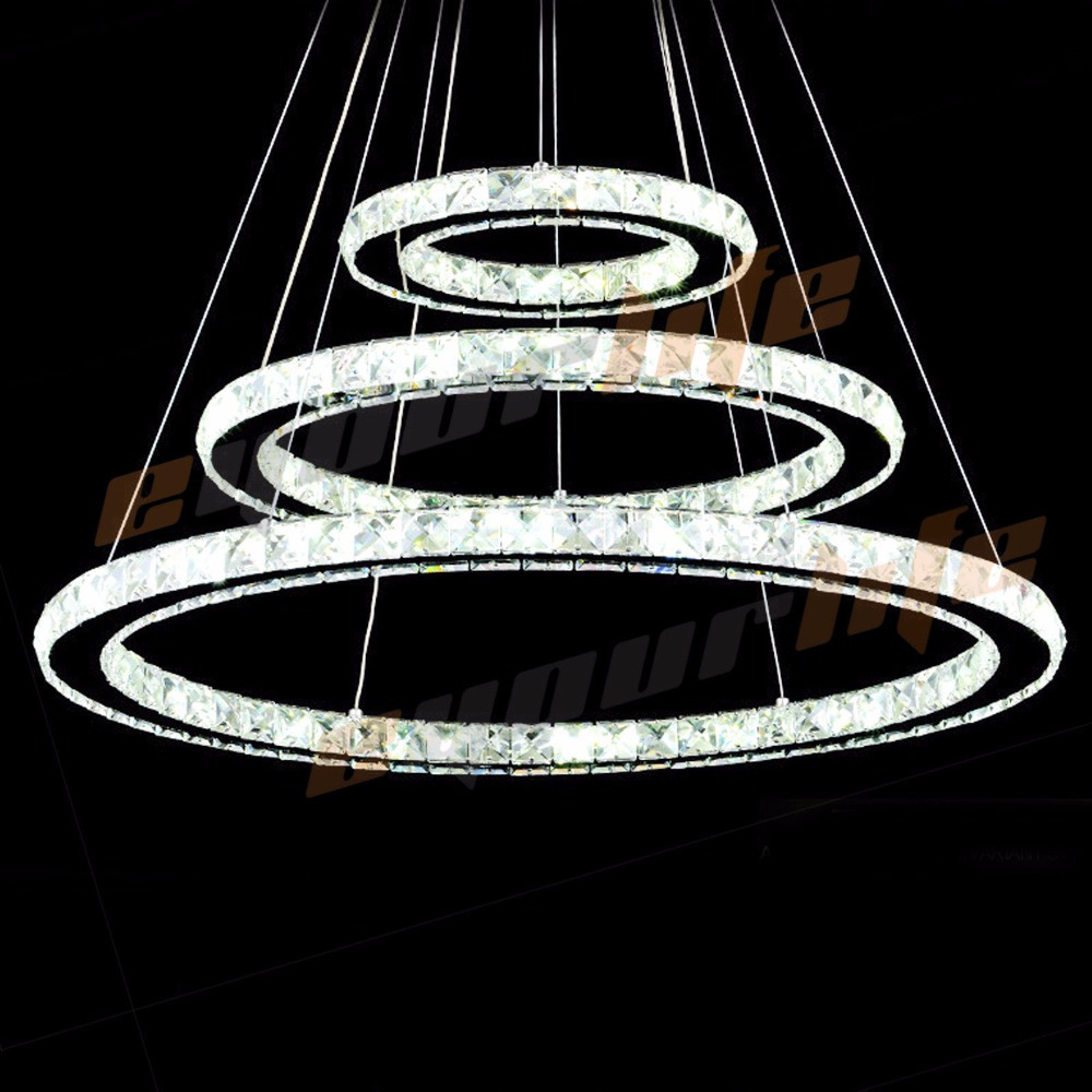 Enyourlife modern galaxy crystal chandelier circles pendant led enyourlife modern galaxy crystal chandelier circles pendant led light ceiling lamp lighting crystal chandeliers in pendant lights from lights lighting on arubaitofo Images
