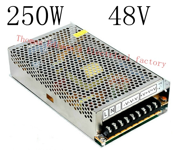 DIANQI power supply 250w 48V 5A  power suply 48v 250w ac to dc power supply unit ac dc converter  high quality S-250-48  high quality single output switching power supply power suply unit 350w 48v 7 3a ac to dc power supply ac dc converter s 350 48