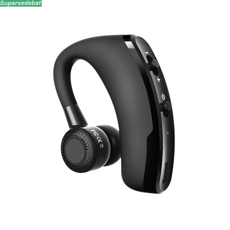 V9 Bluetooth Headset Handsfree Earphone Wireless Voice Control Music Sports Bluetooth Headphones Noise Cancelling Headset