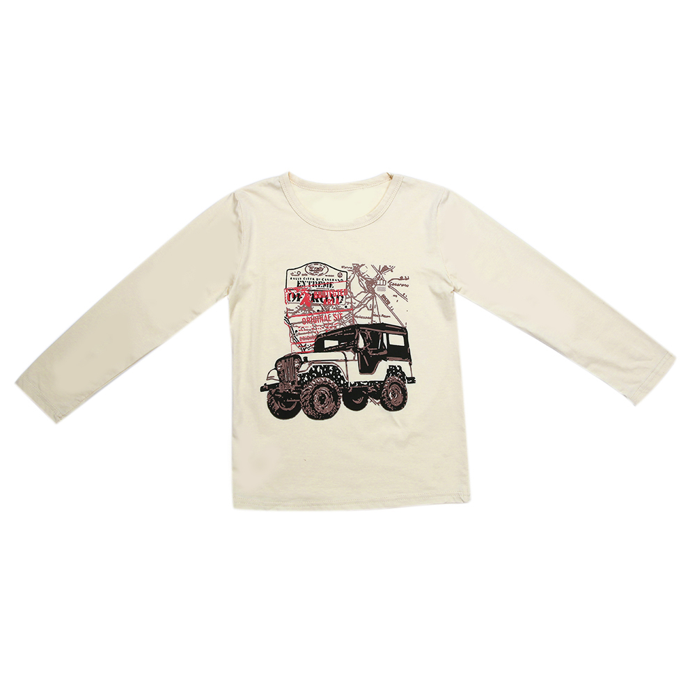 b12dec646 Cotton Jeep Letter Printed T shirt Handsome Baby Boys Clothes High ...
