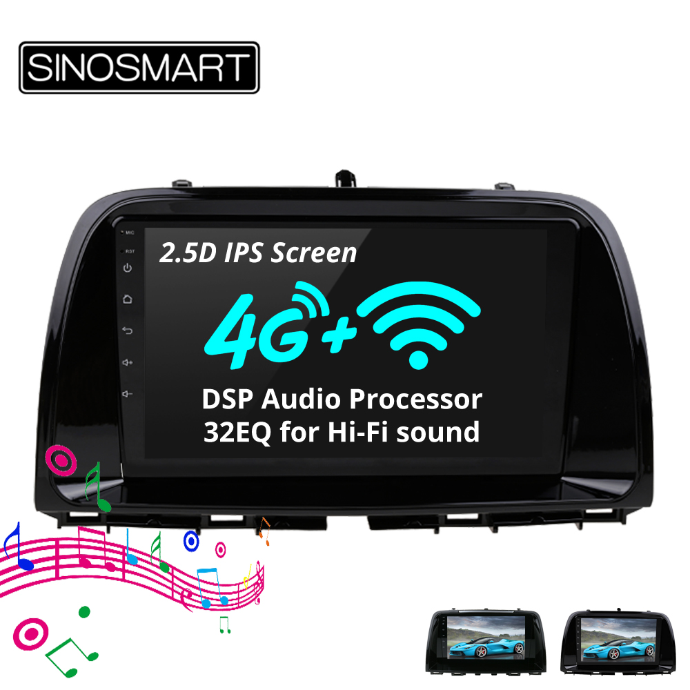 SINOSMART Support 4G SIM Card Bose Audio Native Parking 32EQ DSP Car Navigation GPS Player for Mazda 6 Atenza/CX-5 8 Core CPU