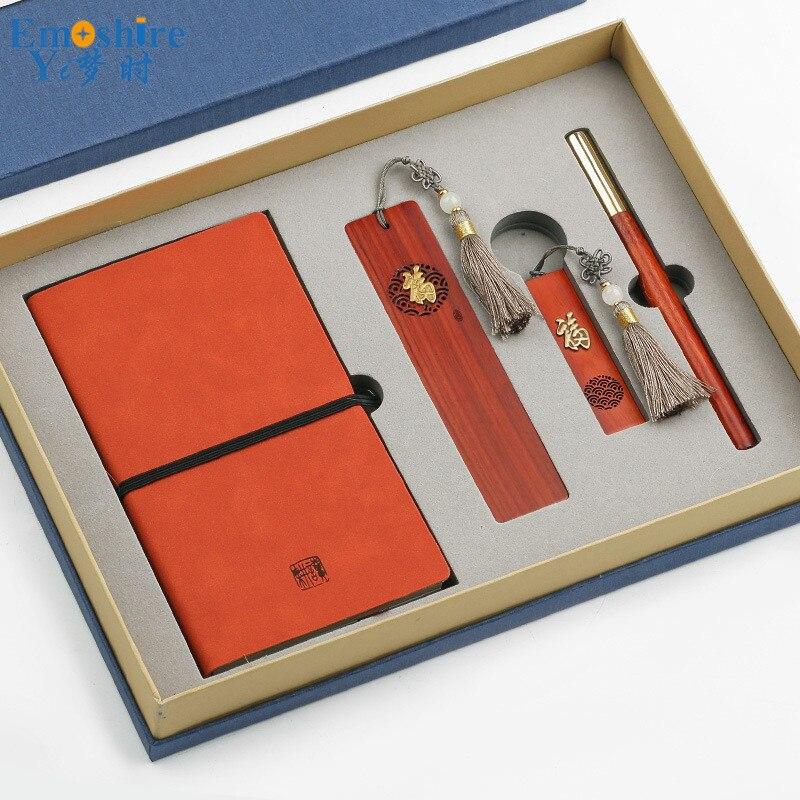 Signet bloc-notes 16 GB clés USB et stylo à bille stylo à bille recharge coffret cadeau pour cadeau d'entreprise Logo personnalisé P432