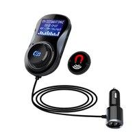 Bluetooth FM Transmitter Audio Car Mp3 Player Wireless In Car FM Modulator Handsfree Bluetooth Car Kit with LCD Display