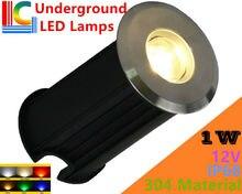 304 stainless steel 1W Outdoor Underwater LED Lamp 12V Waterproof IP68 Swimming Pool Lights Ladder Underground Light