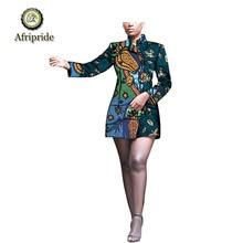2019 african dresses for women dashiki bazin riche AFRIPRIDE ankara print  private custom pure cotton turn-down collar S1825063 цены