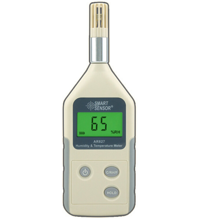 Digital Hygrometer Thermometer AR827 High-precision Temperature And Humidity Table Thermometer sauna accessories stainless steel and plastic temperature and humidity thermometer