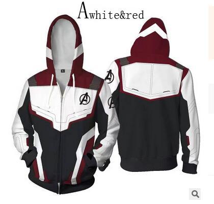 Avengers 4 Endgame Quantum Realm Battle Suit Cosplay Hooded Sweater Coat Pants