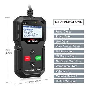 Image 2 - KONNWEI KW590 Universal OBD2 EOBD CAN Code Reader Diagnose Scanner Autoscanner Motor Diagnose Tool Besser Als AD310 NL100