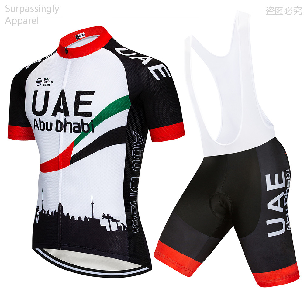 6be6128afe5 2019 Team Pro UAE Cycling Jersey Sets Cycling Clothing Bike Jersey Ropa Quick  Dry Mens MTB Bicycle Summer Tops Short Sleeve 16D-in Cycling Sets from  Sports ...