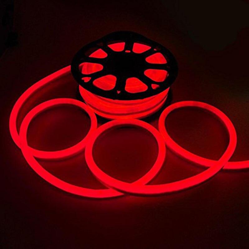 50ft 110 V LED néon corde lumière intérieur extérieur vacances fête saint-valentin décoration éclairage rouge