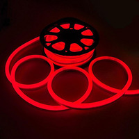 50ft 110V LED Neon Rope Light Indoor Outdoor Holiday Party Valentine Decoration Lighting Red