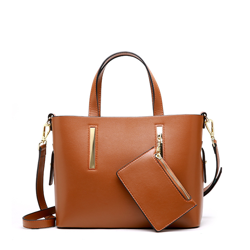 Fashion Lady Genuine Leather Composite Bag Soft Cowhide Shoulder Bag Lady Travel Large Capacity Top-handle Bag Totes Friend Gift luxury genuine leather bag fashion brand designer women handbag cowhide leather shoulder composite bag casual totes