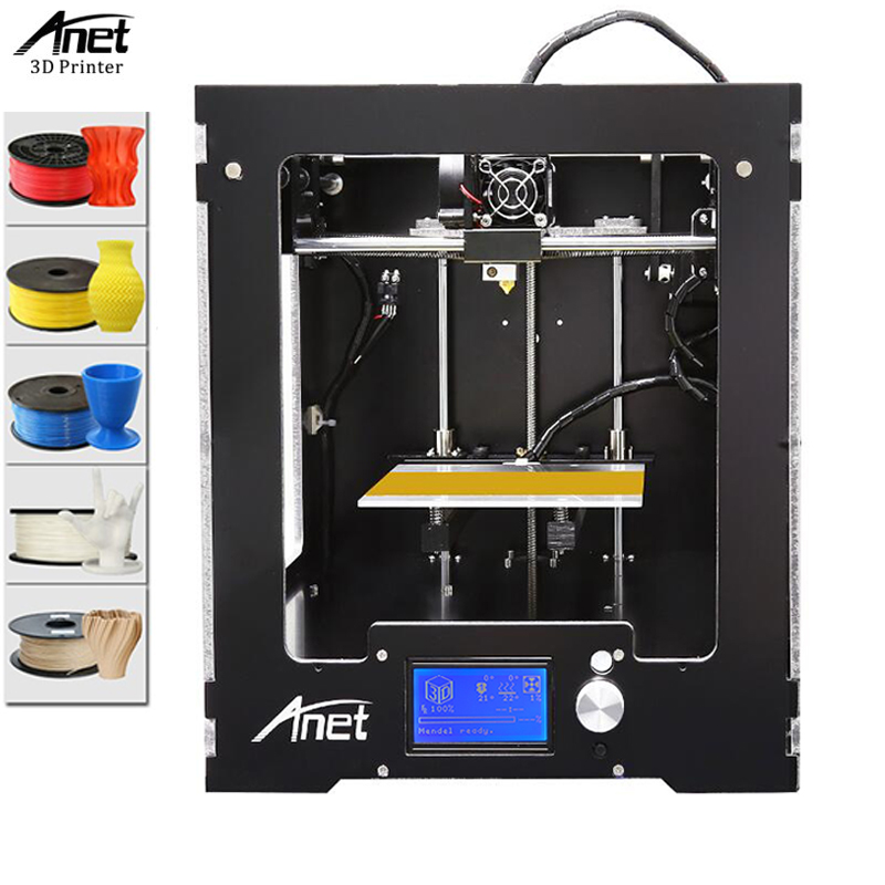 Anet A3 3D Printer Machine Full Acrylic Assembled Reprap i3 3D Printer Kit with Filament 8G SD Card +Tool for Free Large все цены