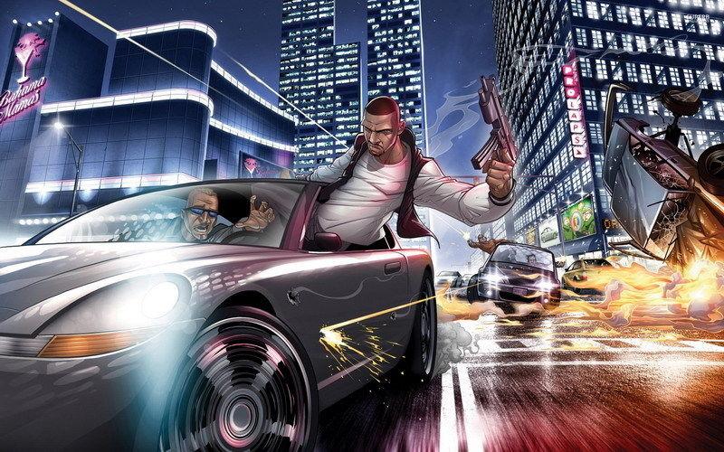 101 Chaude Vidéo Jeu-poursuite en Voiture dans Grand Theft Auto 22 x 14 Affiche