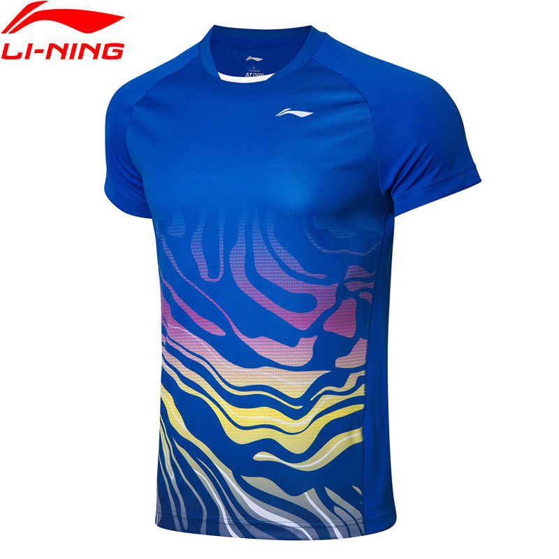 Li-Ning Men Badminton Competition T-shirts Regular Fit AT DRY Breathable Polyester LiNing Sports Tees Tops AAYP073 MTS3048Li-Ning Men Badminton Competition T-shirts Regular Fit AT DRY Breathable Polyester LiNing Sports Tees Tops AAYP073 MTS3048