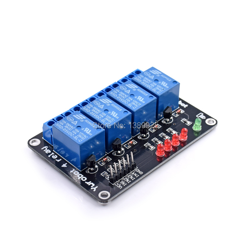 5V 4-Channel Relay Module Board for Arduino ARM PIC AVR DSP Electronic 5V 4 Channel Relay Module