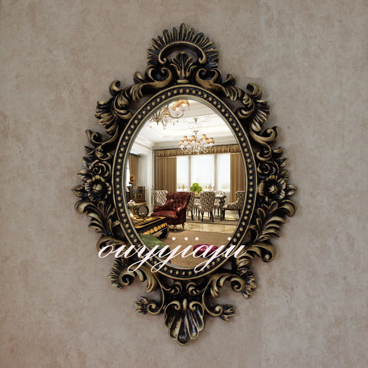 Large big decorative cosmetic antique oval wall mirror for Large portrait mirror
