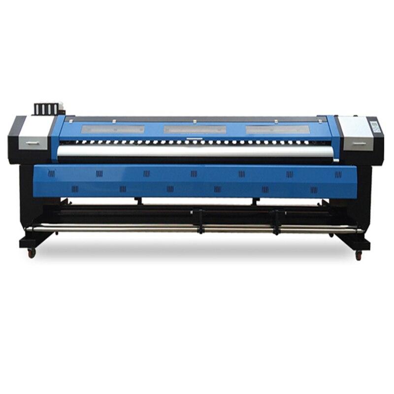 10ft/3.2m Banner Flex Máquina de Impressão Digital de Grande Formato Eco Solvente Impressora Jato De Tinta para Adesivo de Vinil Papel De Parede Photopaper