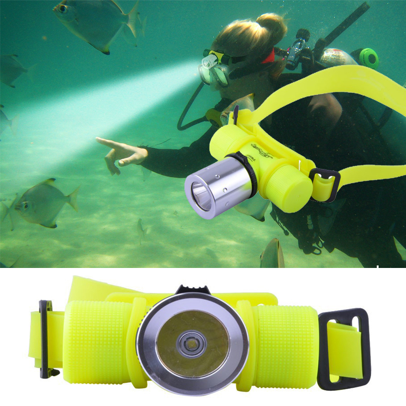 CREE XM-Q5 LED Underwater Waterproof 60m Diving Headlamp Headlight Dive Flashlight Head Light Lamp Torch