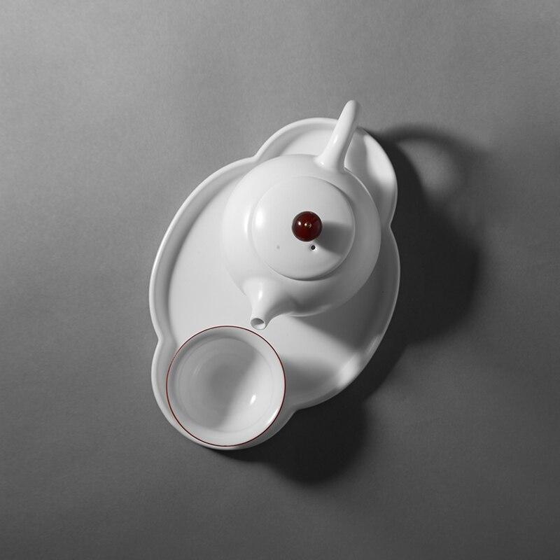 Chine Jingdezhen théière bouilloire drinkware Kung Fu infuseurs filtre outils de cuisson en céramique Kung Fu blanc petit ensemble de thé pour une personne