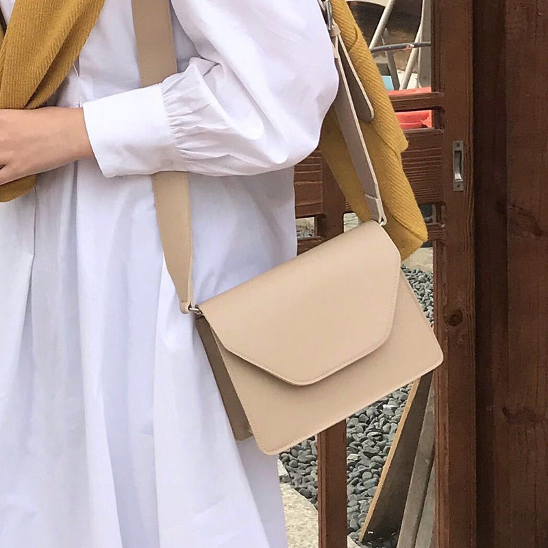 RanHuang New Arrive 2020 Women Pu Leather Shoulder Bags Girls Brief Flap Women's Casual Messenger Bags Crossbody Bags(China)