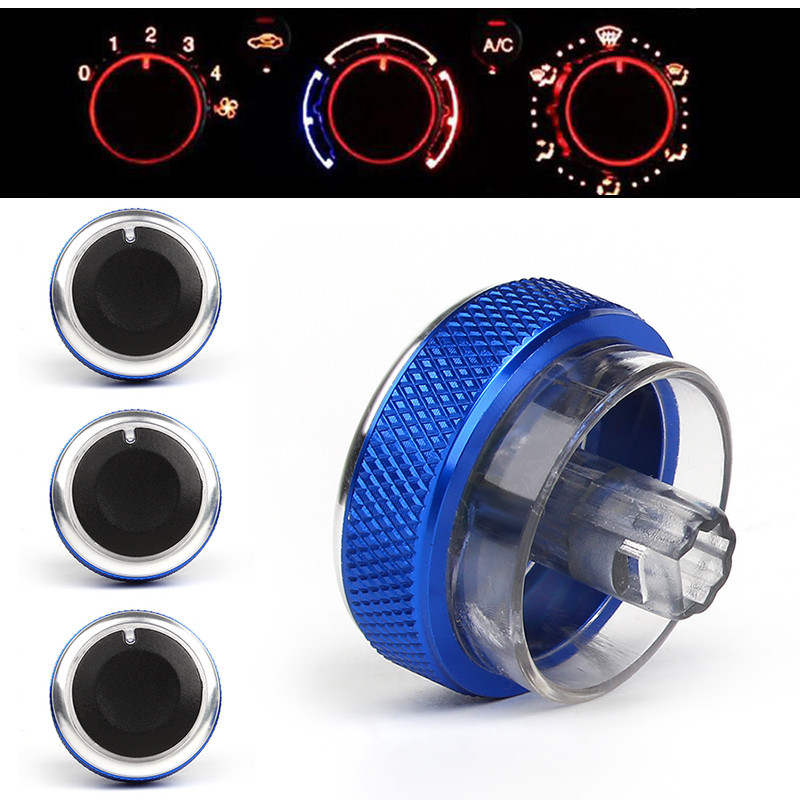 3PCS/LOT Auto Air Conditioning Heat Control Switch Knob AC Knob For Ford Focus 2 MK2 Focus 3 MK3 Mondeo Car Styling Accessories