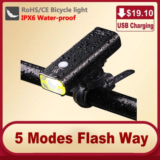 Прокат велосипедов света легкий велосипед светодиодный передний руль велосипеда свет usb велосипед аварийное велосипед лампа фонарь для велосипеда
