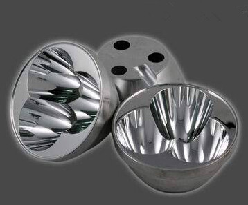 #ECTF-56.3 3 in 1 Reflective Cup, Size: 56.3X27.2mm, Angle: 8 deg, Clean Surface, Materials: Aluminum, Match: CREE XM-L