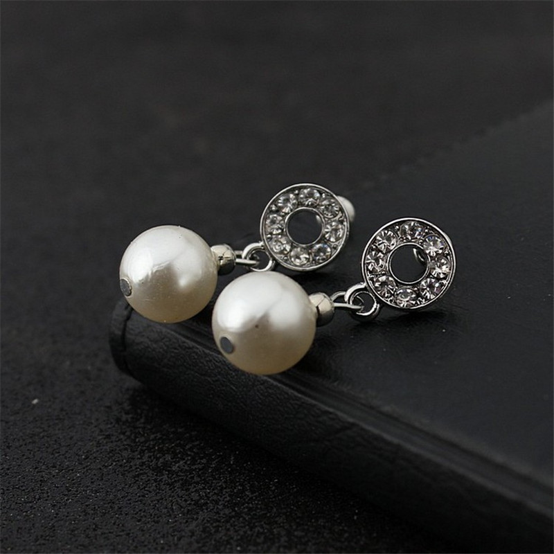 HUASAI New Arrival Women Europe and America Elegant Pearl Earring Necklace Wedding Jewelery Sets Free Shipping