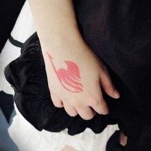 Аниме Fairy tail cos Etherious Natsu Dragneel Erza Scarlet Wendy Marvell Feioulei Demon cat Косплей временная татуировка наклейка