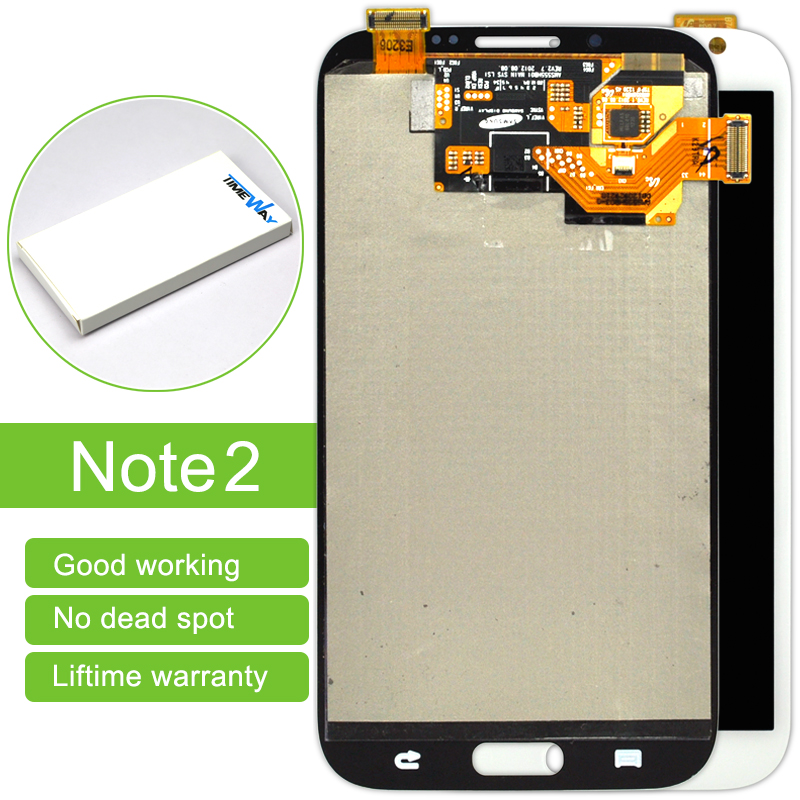 Hot Sale 1 Pcs Free Shipping Mobile Phone Lcd Display Touch Screen Digitizer Without Frame Assembly For Samsung Note 2 N7100 1 pcs for iphone 4s lcd display touch screen digitizer glass frame white black color free shipping free tools