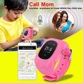 Q50 Ruso/Inglés Versión Safe Kids Bebé Inteligente Reloj GPS Tracker Reloj de Pulsera Anti-pérdida de SOS Reloj Pulsera para Android iOS