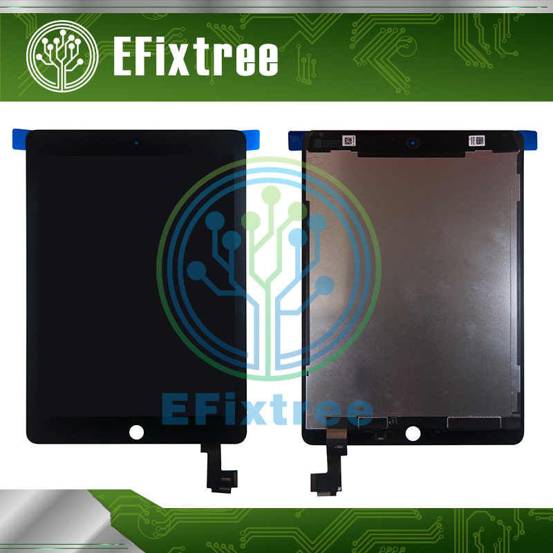 Grade A Combo For iPad Air 2 A1567 A1566 LCD Screen Digitizer Assembly Display Touch Screen Panel Black White With Sticker Paper free shipping 1pieces lot 3 7v 603030 600mah lithium polymer battery quality goods of ce fcc rohs certification authority