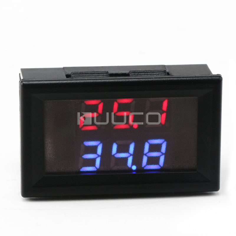 DC12V 24V Digital Meter -20~+100 Degrees Celsius Thermometer Dual display Temperature Meter for Car/Water/Air/Indoor/Outdoor etc digital tester 3in1 multifunction temperature humidity time lcd display monitor meter for car indoor outdoor greenhouse etc