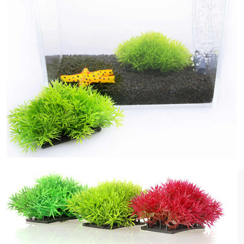 Plastikowe sztuczne ozdobne rośliny wodne akwarium z roślinami dekoracje i ozdoby sztuczna trawa wystrój akwarium krajobraz Acc