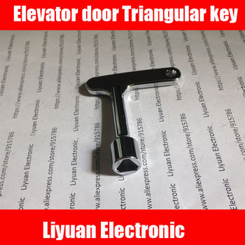 1 szt Nowa wersja kluczy do drzwi windy klucz trójkątny klucz uniwersalny do pociągu klucz trójkątny pociągu tanie i dobre opinie Części winda