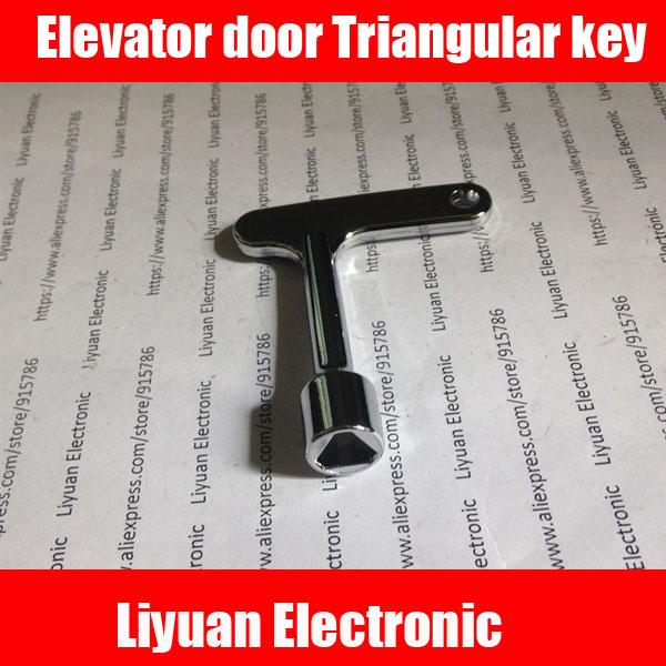 1 шт. новая версия ключей для лифта, треугольный ключ, универсальный ключ для поездов, треугольный ключ для поездов|elevator door key|triangle keytriangular key | АлиЭкспресс