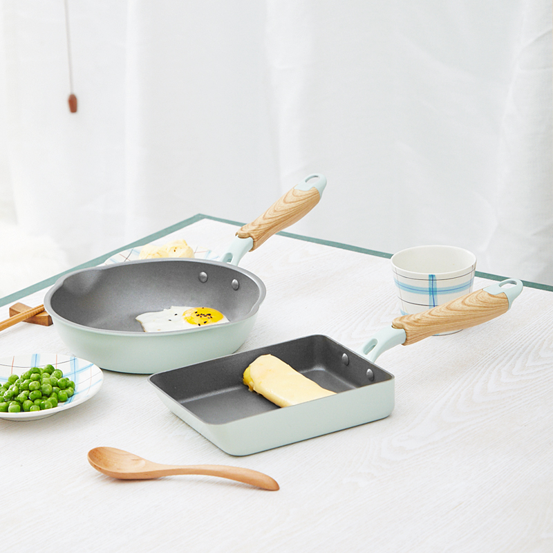 Green Non-Stick Induction Gas Frying Pan 2