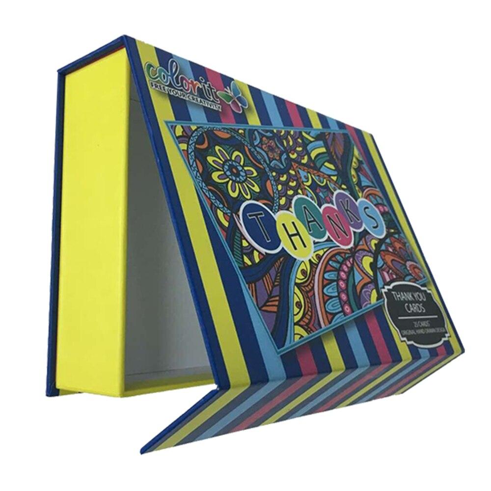 Handmade rigid cheapest hard cardboard pen box with insert