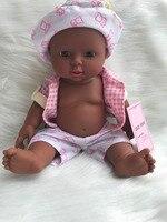 Africano negro muñeca Renacer Muñeca de Vinilo Suave de Silicona de la piel Realista Bebés Alive Juguetes Para Niños Niñas de Cumpleaños Regalo de Chirstmas