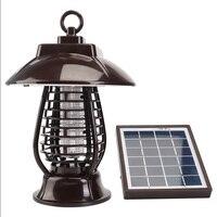 الشمسية البعوض القاتل ضوء 24 LED أضواء فانوس علة صاعق UVA مع للماء كاب _ WK