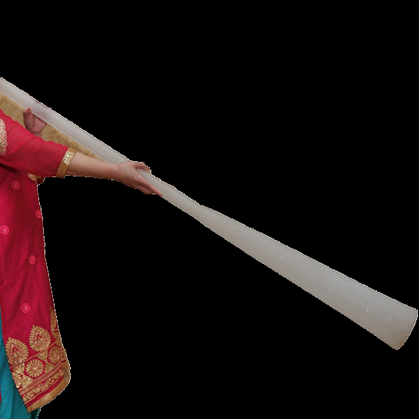 Powerful Sound Length 110cm-140cm For Frosted Quartz Crystal Didgeridoo + Free  Canvas Bag