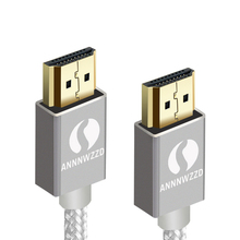 Annwzzd HDMI кабель 1 м 2 м 3 м 5 м 10 м высокоскоростной PRO Золотой HDMI кабель v2.0/1.4a 3D 2160p PS4 SKY HD 4K Ultra HD Ethernet Аудио Рету