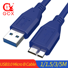GCX USB 3.0 Micro B Cable High Speed to Data Sync for external hard drive Disk HDD Samsung S5 Note 3