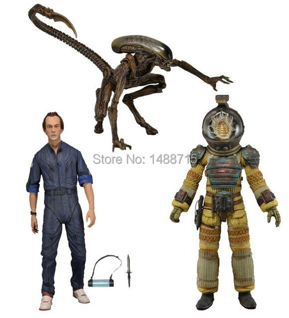 ФОТО Classic Sci-Fi Movie Aliens NECA Alien Series 3 Bishop Kane Nostromo Suit  Dog Alien Action Figure Toys New Box