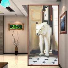 PSHINY 5D DIY diamond embroidery sale Polar Bear Animal pictures of rhinestones Full drill Square paintings New arrivals